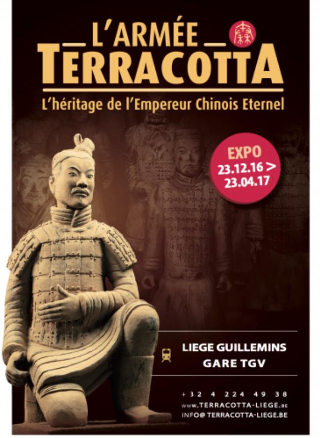 Affiche Expo Armée Terracotta