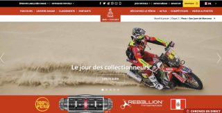 Homepage du Dakar 2019